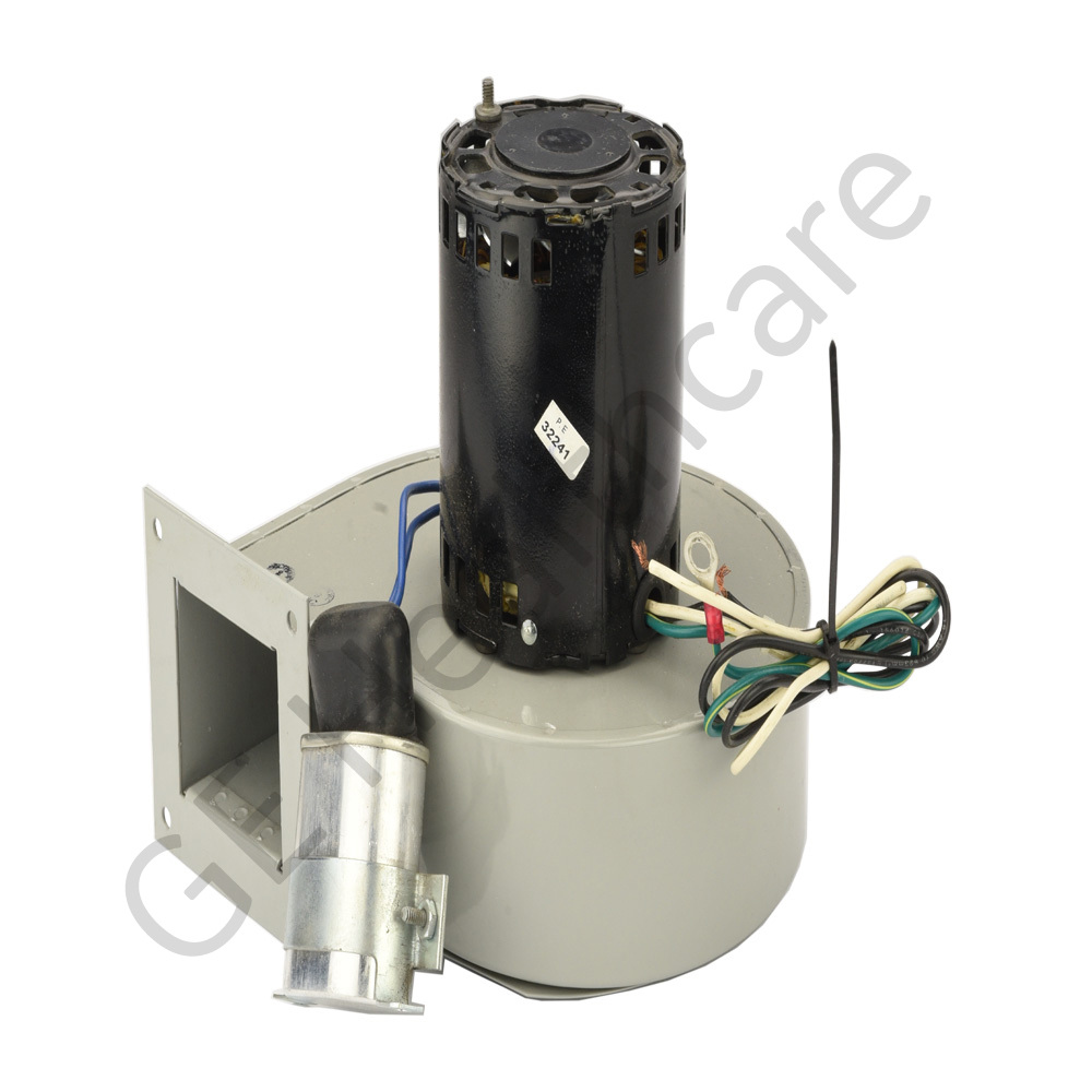 Small Blower with Mounting Bracket and Capacitor Assembly